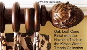 kirsch wood poles rings finials