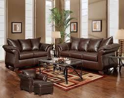 Mahogany Living Room Furniture Mahogany Bonded Leather Modern Loveseat Sofa W Options