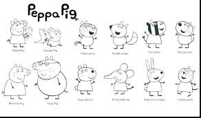Peppa Pig Color Pages Pig Coloring Sheets Plus Pig Coloring Pages