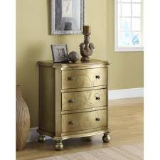 Overstock Bedroom Furniture Bombay Gold Transitional 3 Drawer Chest Free Shipping Today