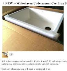 kohler cast iron sink. Kohler, 30\u201d Whitehaven. FYI: This Sink Also Comes With A Shorter Apron That Would Allow You To Replace Already Have Installed, Without Requiring Kohler Cast Iron C