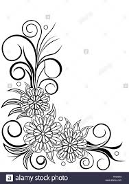 Design Sheet Art Sheet With Floral Corner Design Hand Drawing Vector