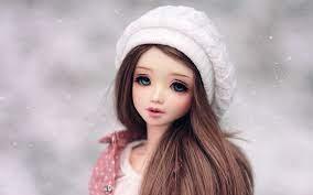 Cute Doll Wearing Winter Cap Wallpaper ...