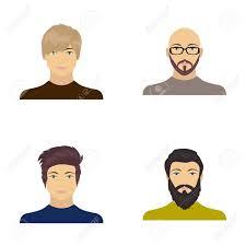 眼鏡とひげ髭の男髪型の男の出現でハゲ男の顔顔と外観は漫画