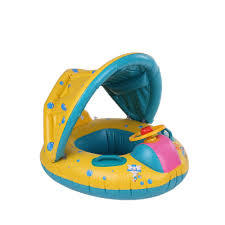 Baby Swing With Light Canopy Inflatable Kids Swimming Ring With Sunshade Baby