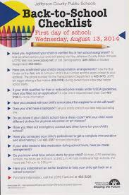 School Checklist Community Coordinated Child Care Blog Archive Jcps Back To