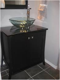 Bathroom Vanity Black Bathroom White Round Sink Bathroom Black Wooden Vanity With