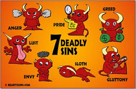 Image result for biblical the seven deadly sins