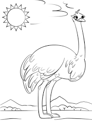 Small Picture Cartoon Ostrich coloring page Free Printable Coloring Pages