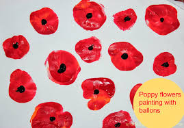 poppy flowers painting with kids