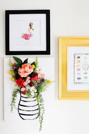 this 3 d flower canvas is just the piece to make your gallery wall pop on 3d flower wall canvas art with diy 3 d flower canvas art part 1