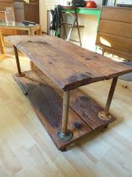 coffee table barn wood reclaimed diy matching end and tv stand tea pots furniture rustic