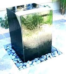 modern outdoor fountains stone