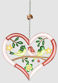Hängedeko Aus Tiffanyglas Herz Rot Rosa Fensterdeko 26 Cm Lim Boxde