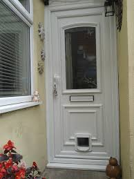 sureflap fitted to decorative upvc front door