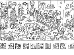 Small Picture Tiger Picnic Hidden Picture coloring page Hide and seek