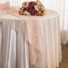 108 round lace table overlays blush pink 90815 1pc pk