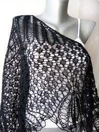 Lace <b>black</b> shawl - Knit wrap - Evening elegant cape for women ...