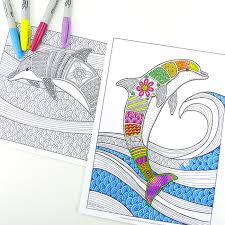 In this website, you can find numerous printable dolphin coloring pages that depict these creatures in both realistic and cartoonish appearances. Free Colouring Pages For Grown Ups Dolphins Red Ted Art Make Crafting With Kids Easy Fun