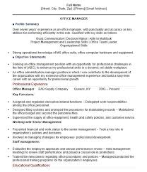 19 Free Office Manager Resume Samples Sample Resumes