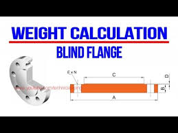 Weight Calculation Blind Flange Piping