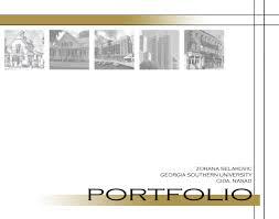 Cover Page For Portfolio Portfolio Cover Page Zorana Selakovic