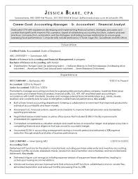 Sample Resume For Accounting Manager Cpa Resume Sample Monster Com