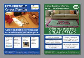 carpet cleaning flyer modern feminine flyer design for sutton coldfield dairies by