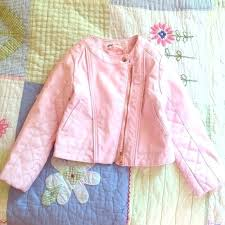 toddler pink leather jacket other faux size childrens