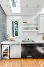 absolutelygorgeous transitional thick countertops kitchen features herringbone tile with quartzite counters with white tongue and groove
