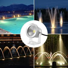 Floating Pool Fountain With Lights Us 8 99 30 Off Ip65 10w Led Underwater Fountain Light Spotlight Timing Function Swimming Pool Light Aquarium Led 12v Waterproof Lamp Cold Warm In