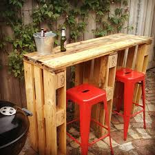I got asked to make a friend a bar out of recycled pallets for next to