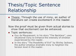 irony essay how to begin ppt  10 thesis topic sentence relationship