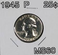 1945 Washington Silver Quarter Coin Value Prices Photos Info