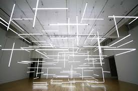 futuristic lighting. 200 Organized Fluorescent Lights Produce Futuristic Space Lighting N