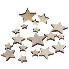 17 Holzsterne 357cm Mix Natur Sterne Holz Weihnachtssterne
