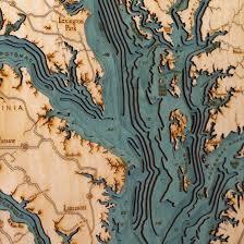 Wood Bathymetric Charts 3d Laser Cut Wood Maps Show Hidden Underwater World