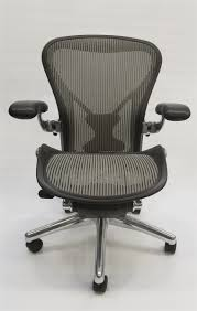 Herman Miller Aeron Chair Size B Gray With Posturefit and Polished ...