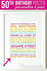 gifts for mens 50th birthday personalized poster unique gift ideas
