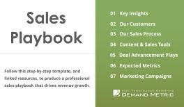 Sales Training Template Sales Training Playbook Demand Metric