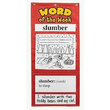 Word Of The Week Pocket Chart Grades 3 4