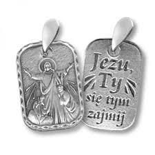 medalik jezu ty się tym zajmij srebrny księgarnia miesięcznika egzorcysta
