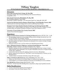 Sample Business Resume Format Business Resume Format Sample College Student Resume Template Easy 2