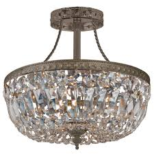 stylish ceiling crystal chandelier ceiling mounts crystal amp semi flush ceiling mounts light