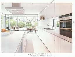 kitchen 1 point perspective. pin drawn kitchen one point 9 1 perspective