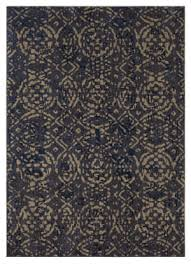 karastan cosmopolitan block print ink blue area rug