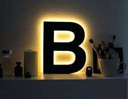 light up letters for wall zoom light blue wall letters