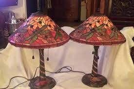 vintage stained glass lamps vintage stained glass hanging light fixture