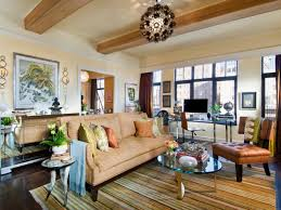 ... Living Room, Living Room Layout With Carpet And Brown Sofa And Cushion  With Curtain And ...