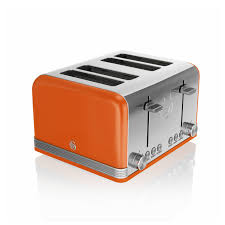 Retro Toasters swan st19020on retro 4 slice toaster orange kettle and toaster man 2109 by xevi.us
